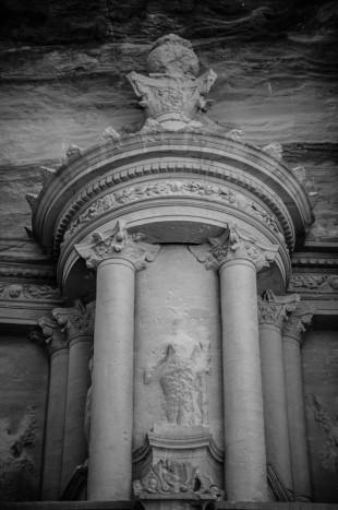 UPPER FACADE OF THE TREASURY, PETRA